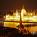 Budapest at Night Print by Gregory Dyer