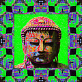 Buddha Abstract Window 20130130m180 Poster by Wingsdomain Art and Photography