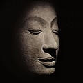 Buddha head from the early Ayutthaya Period Print by Siamese School