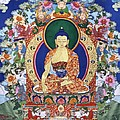 Buddha Shakyamuni and the Six Supports Print by Leslie Rinchen-Wongmo