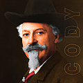 Buffalo Bill Cody 20130516 square with text Print by Wingsdomain Art and Photography