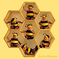 Bumblebees Poster by Anne Geddes