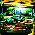 Bumper Cars Print by Colleen Kammerer