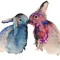 Bunnies in love Poster by Kristina Broza