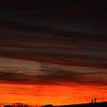 Burning Night Time Sky by JOHN TELFER