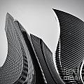 Business skyscrapers abstract conceptual architecture Poster by Michal Bednarek