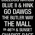 Butler College Town Wall Art Print by Replay Photos