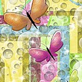 butterfly dreams Print by Karen Sheltrown