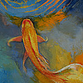 Butterfly Koi Print by Michael Creese
