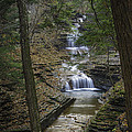 Buttermilk Falls in Autumn III Print by Michele Steffey
