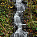 Buttermilk Falls In Autumn Poster by Stephen  Vecchiotti