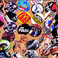 Button Crazy Poster by Kip Krause