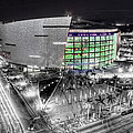 BW of American Airline Arena Print by Joe Myeress