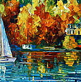 By The Rivershore Print by Leonid Afremov