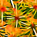 Cactus Pattern 3 Yellow Poster by Amy Vangsgard