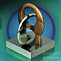 Cad Sculpture No43 - Unity - 22092012 Poster by Michael C Geraghty