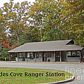 Cades Cove Ranger Station Poster by Marian Bell