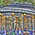 Cafe Flore in Summer Poster by Matthew Bamberg