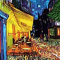 Cafe Terrace Place Du Forum At Night  Poster by Vincent Van Gogh