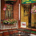 Cafe - The Best ice cream in Lancaster Print by Mike Savad
