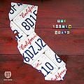 California License Plate Map Poster by Design Turnpike