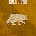 California State Facts Minimalist Movie Poster Art  Print by Design Turnpike