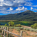 Campground View Of Lake Cascade Print by Robert Bales