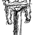 Candelabrum Sketch Poster by J M L Patty