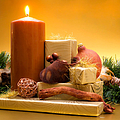 Candle with gifts Print by Wim Lanclus