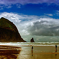 Cannon Beach at Dusk II Poster by David Patterson