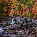 Canyon color rushing waters Print by Jeff Folger
