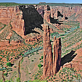 Canyon de Chelly - Spider Rock Poster by Christine Till