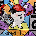 Caped Tooth Print by Anthony Falbo