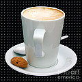 Cappuccino with an Amaretti Biscuit Poster by Terri  Waters