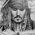 Captain Jack Sparrow Print by Andrew Read