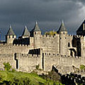Carcassonne Panorama Poster by Robert Lacy
