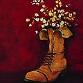 Cargo Boot Series Unusual Flower Pot Poster by Patricia Awapara