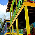 Caribbean Porches Print by Randall Weidner