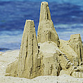Caribbean Sand Castle  Poster by Betty LaRue