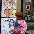 Caricature and Portrait Painter Subject Redhead Child Bath Somerset England Print by Robert Ford