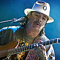 Carlos Santana on Guitar 3 Poster by The  Vault - Jennifer Rondinelli Reilly