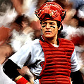 Carlton Fisk Print by Iconic Images Art Gallery David Pucciarelli