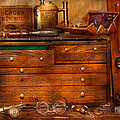 Carpentry - Tools - In my younger days  Print by Mike Savad