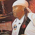 Carter Beauford at Red Rocks Print by Joshua Morton