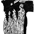 Caryatids in High Contrast Print by Calvin Durham