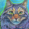 cat commission 2 Print by Jenn Cunningham