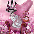 Cat In Mad Hatter Hat Print by Carol Cavalaris