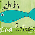 Catch and Release Print by Linda Woods