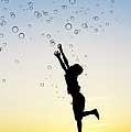Catching bubbles Print by Tim Gainey