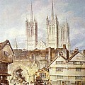 Cathedral church at Lincoln 1795 Poster by Joseph Mallord William Turner